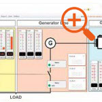 Mains/generating set switching system